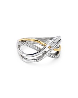 Bloomingdale's - Diamond Layered Ring in Sterling Silver & 14K Gold-Plated Sterling Silver, 0.16 ct. t.w. - 100% Exclusive