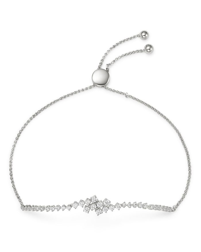 Bloomingdale's - Diamond Overlapping Bolo Bracelet in 14K White Gold, 0.75 ct. t.w. - 100% Exclusive