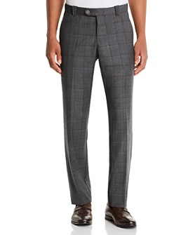 The Men's Store at Bloomingdale's - Wool Tonal-Check Classic Fit Pants - 100% Exclusive