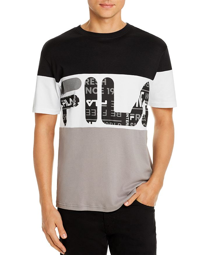 FILA - Johnson Color-Block Logo Graphic Tee