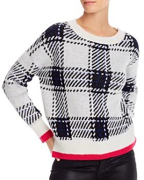 AQUA - Plaid Crewneck Sweater - 100% Exclusive