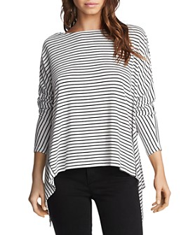1.STATE - Soho Twist-Back Striped Top