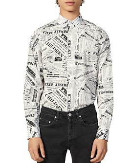 Sandro - Newspaper Slim Fit Shirt