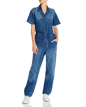 Pistola - Grover Button-Front Denim Field Jumpsuit