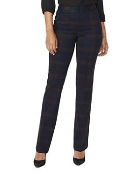 NYDJ - High-Rise Plaid Pants - 100% Exclusive