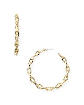 AQUA - Plain Link Hoop Earrings - 100% Exclusive