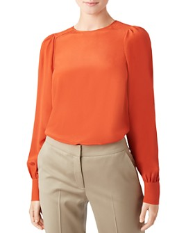 HOBBS LONDON - Heidi Puff-Sleeve Silk Top