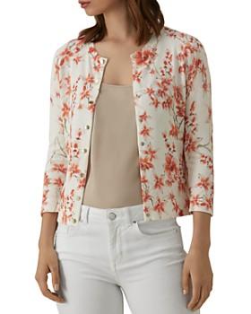 KAREN MILLEN - Orchard Floral Snap-Front Cardigan