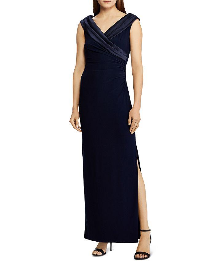 Ralph Lauren - Satin-Trim Jersey Gown