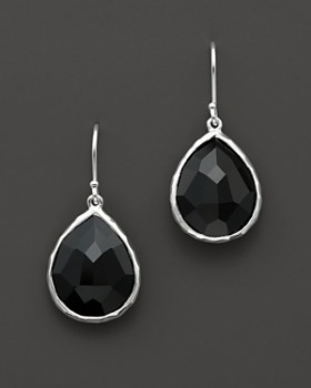 IPPOLITA - IPPOLITA Sterling Silver Rock Candy Small Teardrop Earrings in Black Onyx