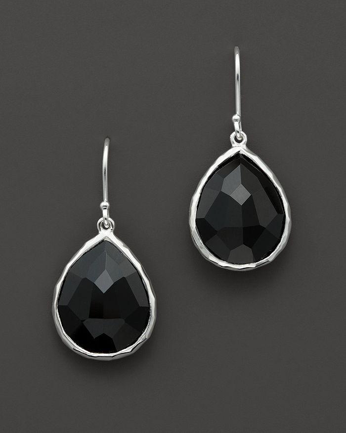 IPPOLITA - Sterling Silver Rock Candy Small Teardrop Earrings in Black Onyx
