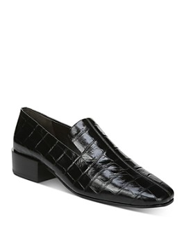 Via Spiga - Women's Baudelaire Embossed-Leather Loafers