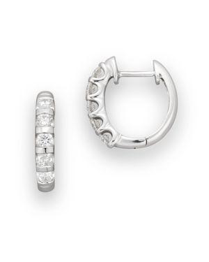 Diamond Hoop Earrings 14 Kt. Gold, 0.50 ct. t.w. - 100% Exclusive