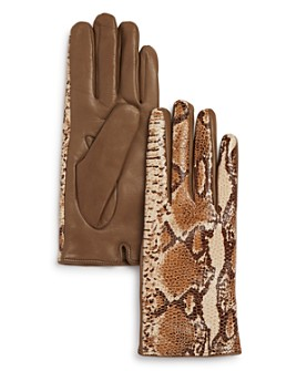 Bloomingdale's - Python Printed Leather Gloves - 100% Exclusive