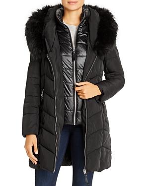 Calvin Klein Faux Fur-Trim Puffer Coat
