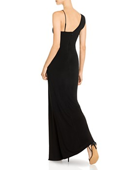 BCBG - Asymmetric Lace-Detail Combo Gown