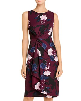 Donna Karan - Floral Twist-Front Dress