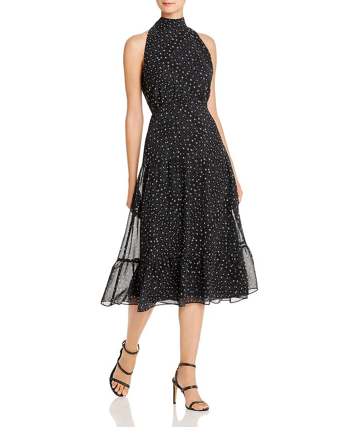 Sam Edelman - Astro-Print Mock-Neck Midi Dress