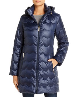 kate spade new york - Scallop-Quilted Puffer Coat
