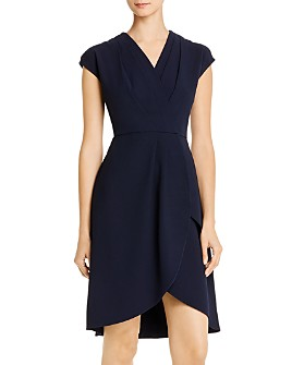 nanette Nanette Lepore - Pleated Faux-Wrap Dress