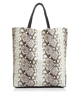 Alice.D - Large Python-Print Tote - 100% Exclusive
