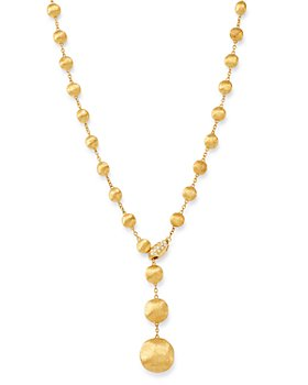 """Marco Bicego - 18K Yellow Gold Africa Diamond Y Necklace, 16.75"""""""