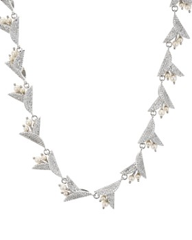 """kate spade new york - Pavé & Simulated Pearl Statement Necklace, 17"""""""