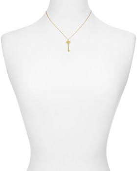 "kate spade new york - Cutout Spade Key Pendant Necklace, 16"""