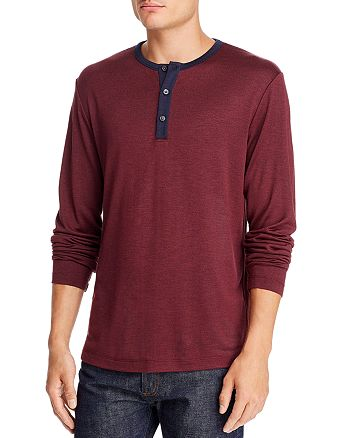 Theory - Anemone Long-Sleeve Contrast-Trimmed Henley - 100% Exclusive
