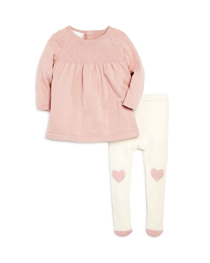 Bloomie's - Girls' Sweater Dress & Heart Tights Set, Baby - 100% Exclusive