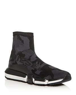 Diesel - Men's H-Padola Camo Knit High-Top Sneakers