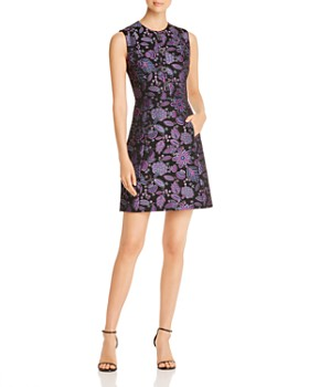 Elie Tahari - Louisa Sleeveless Floral-Brocade Dress