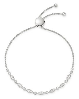 Bloomingdale's - Diamond Milgrain Bolo Bracelet in 14K White Gold, 0.50 ct. t.w. - 100% Exclusive