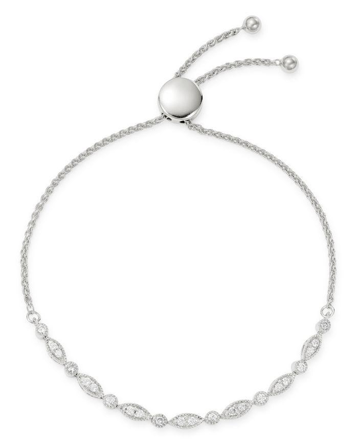 Bloomingdale's Diamond Milgrain Bolo Bracelet in 14K White Gold, 0.50 ct. t.w. - 100% Exclusive  | Bloomingdale's