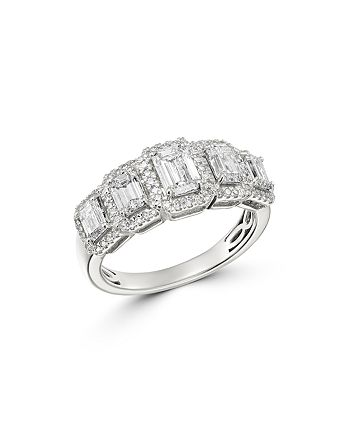 Bloomingdale's - Emerald-Cut Diamond 5-Stone Ring in 14K White Gold, 2.0 ct. t.w. - 100% Exclusive