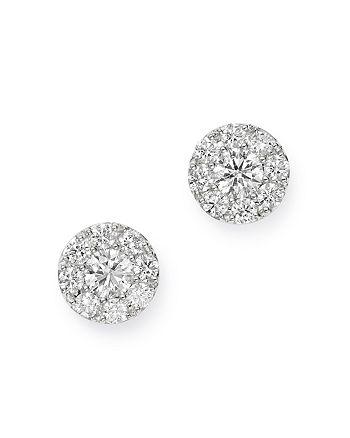 Bloomingdale's - Cluster Diamond Stud Earrings in 14K White Gold, 0.90 ct. t.w. - 100% Exclusive