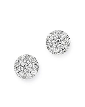Bloomingdale's Cluster Diamond Stud Earrings in 14K White Gold, 0.90 ct. t.w. - 100% Exclusive