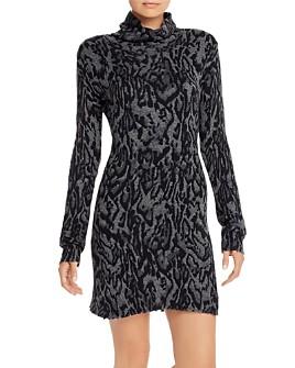 PAM & GELA - Ocelot-Print Wool Sweater Dress