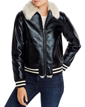 MOTHER - The Faux Fur-Lined Bomber Jacket