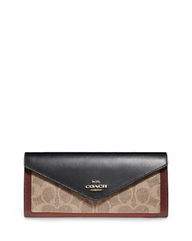 COACH - Signature Coated Canvas & Leather Wallet