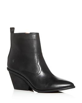 Frye - Women's Amado Pointed-Toe Western Wedge Booties