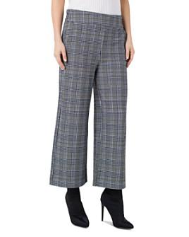 Liverpool Los Angeles - Mabel Plaid Cropped Wide-Leg Pants