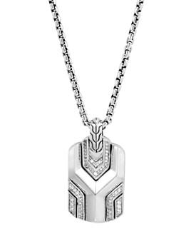 JOHN HARDY - Sterling Silver Classic Chain Pendant with Diamonds, 26""