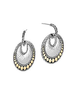 John Hardy Sterling Silver & 18K Yellow Gold Dot Round Drop Earrings-Jewelry & Accessories