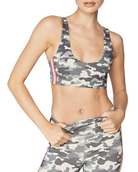 Spiritual Gangster - Shakti Metallic-Stripe Camo Sports Bra