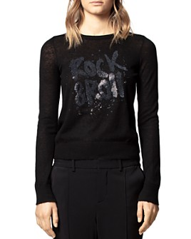 Zadig & Voltaire - Sequined Rock & Roll Cashmere Sweater