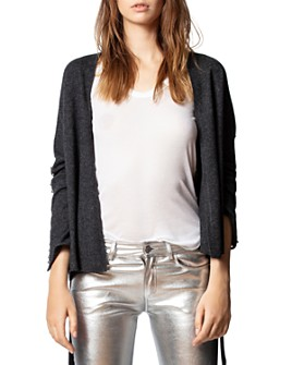 Zadig & Voltaire - Lemmy Merino Wool & Cashmere Studded Cardigan