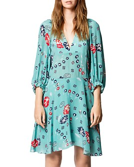 Zadig & Voltaire - Remi Daisy Printed Silk Dress