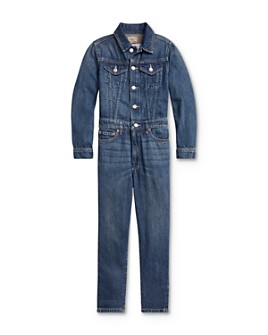 Ralph Lauren - Girls' Denim Jumpsuit - Big Kid