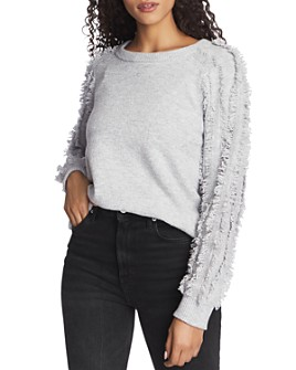 1.STATE - Fringe-Sleeve Sweater
